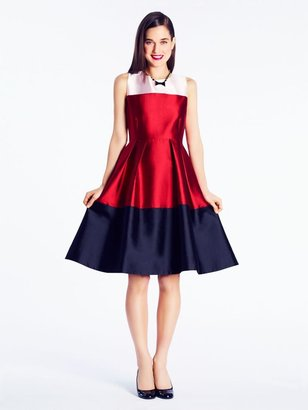 Kate Spade Colorblocked blanche dress