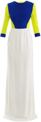 Antonio Berardi Tri-colour chiffon gown