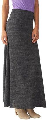 Alternative Apparel Grey Maxi Skirt $44 thestylecure.com
