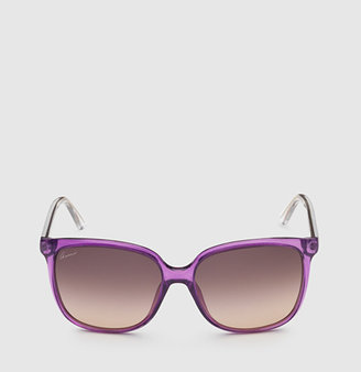 Gucci Purple Oversized Square Sunglasses