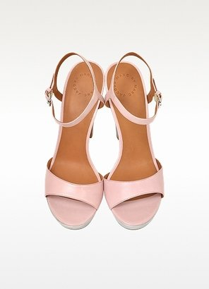 Marc by Marc Jacobs Light Pink and Silver Leather Platform Sandal
