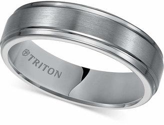 Triton Men Tungsten Carbide Ring, 6mm Comfort Fit Wedding Band