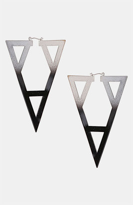 Topshop 'Ombre Geo' Cutout Earrings