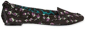 Betseyville by Betsey Johnson Nyle Print Flats with Bow Detail