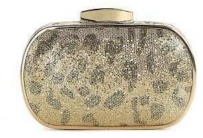 Townsend Lulu Leopard Glitter Minaudiere Clutch