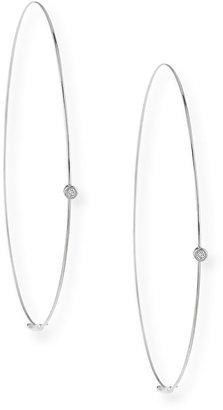 Lana Large Magic Diamond Hoops, White Gold