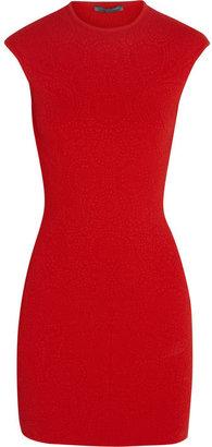 Alexander McQueen Matelassé stretch-knit mini dress