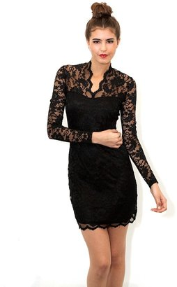 West Coast Wardrobe Forever Young Lace Dress in Black
