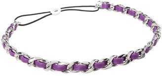 Juicy Couture Leather and Chain Headband (Crushed Berry) - Accessories