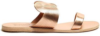 Ancient Greek Sandals Klytemnestra Metallic Flat Sandal