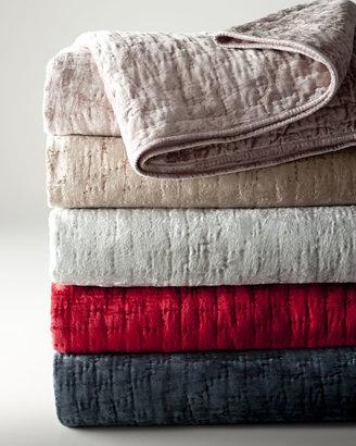 Pine Cone Hill Matte Velvet Quilts & Shams