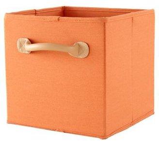 Orange Canvas Bin