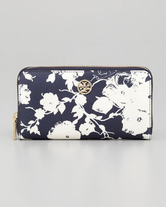 Tory Burch Hawaiian-Print Robinson Zip Wallet