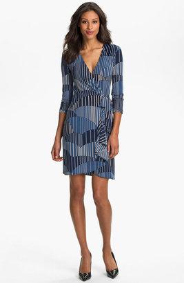 BCBGMAXAZRIA Print Jersey Wrap Dress