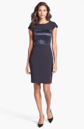 French Connection Cotton Blend Sheath Dress
