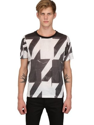 Paul Smith Houndstooth Printed Light Jersey T-Shirt