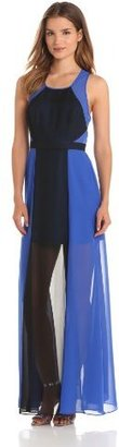 Max & Cleo Women's Sleeveless Colorblock Gown