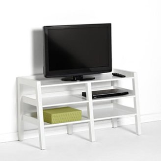 Container Store Linea Leaning Media Stand White