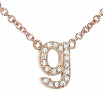 Jennifer Meyer Lowercase Diamond Initial Necklace - Rose Gold