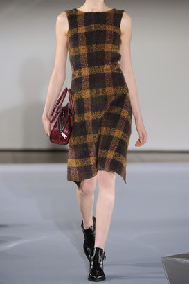 Jil Sander Plaid mohair-blend dress