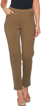 Denim & Co. Comfy Knit Denim Slim Leg 5-Pocket Ankle Jeans