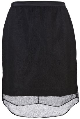 Carven Lace overlay skirt