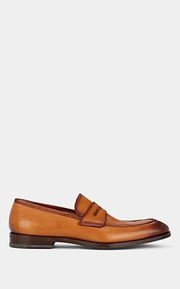 Barneys New York Men's Apron-Toe Penny Loafers - Cognac Br
