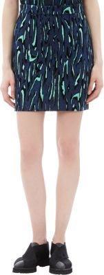 Proenza Schouler Tiger-Print Flocked Jacquard Mini Skirt