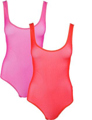 American Apparel Nylon Spandex Micro-Mesh Bodysuit (2-Pack)