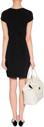 Azzaro Black/White/Red Wool Playing Card Mitteza Dress