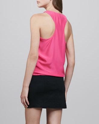 Madison Marcus Cross-Front Combo Dress