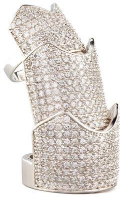 Eddie Borgo Pave Crystal Hinge Ring, Yellow Gold