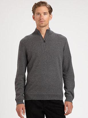 Saks Fifth Avenue Black Label Sporty Half-Zip Sweater
