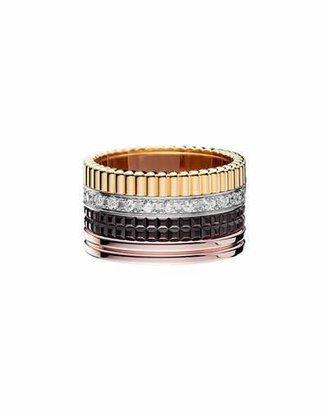 Boucheron Classic Quatre 18k Gold Large Diamond Band Ring, Size 7 $8,600 thestylecure.com