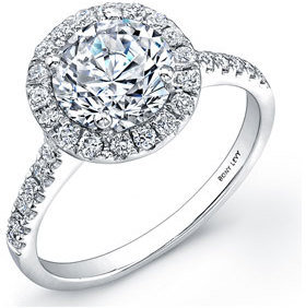 Women's Bony Levy Pave Diamond Leaf Engagement Ring Setting (Nordstrom Exclusive) $2,995 thestylecure.com