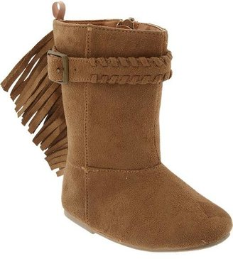 Old Navy Sueded-Fringe Boots for Baby