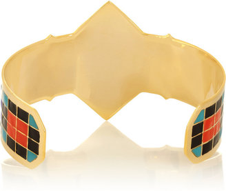Noir Acapulco enameled gold-plated cuff