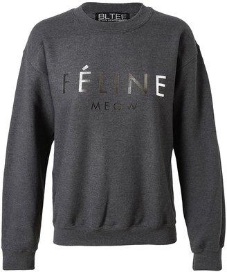Brian Lichtenberg Charcoal Cotton 'Feline' Sweatshirt