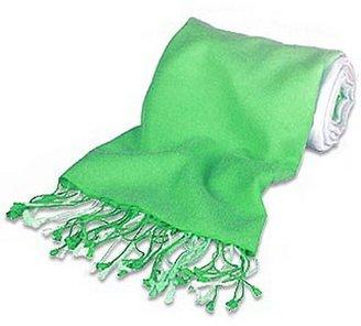 Forzieri Green Pashmina & Silk Shawl