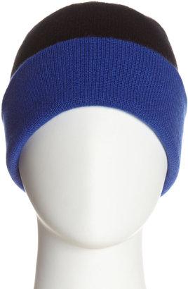 Magaschoni Cashmere Colorblock Hat, Blue/Black