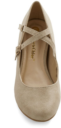 Crosswalk This Way Wedge in Taupe