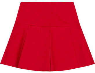 RED Valentino Pleated stretch-cotton mini skirt