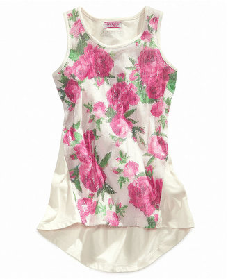 GUESS Kids Shirt, Girls Floral Sequined Tank Top