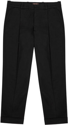 Acne Studios Pierre Black Tapered-leg Stretch-twill Trousers