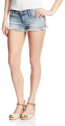 Roxy Juniors Blaze Embroidered Denim Short