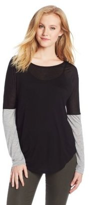 Heather Women's Long Sleeve Cuff Tee