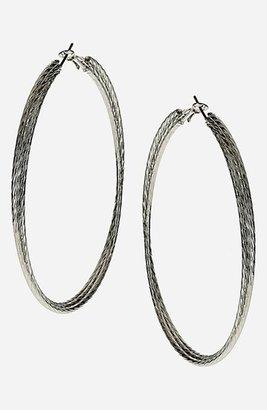 Topshop Oversized Etched Hoop Earrings
