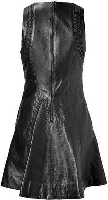 Rag and Bone Rag & Bone Black Leather Dress