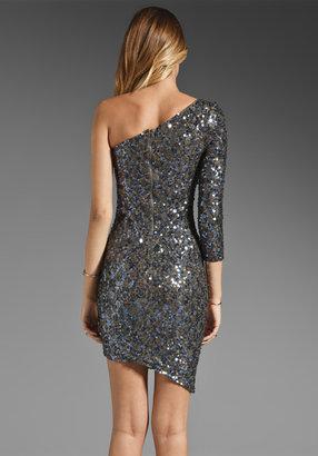 Alice + Olivia Nicky Sequin One Shoulder Dress