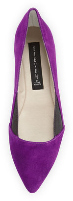 Steve Madden Steven by Elliee Suede Pointy Flat, Purple